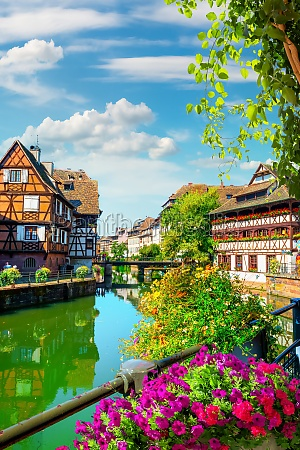 houses on river in strasbourg