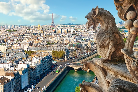 streets of paris and chimeras