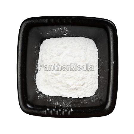 top view of baking powder in