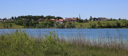 village seegraeben and lake pfaffikon switzerland