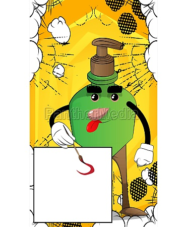 bottle of hand sanitizer as