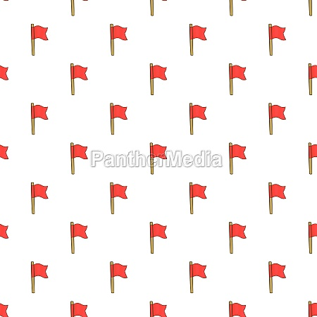 football flag pattern cartoon style