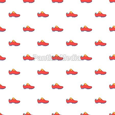 football boots pattern cartoon style