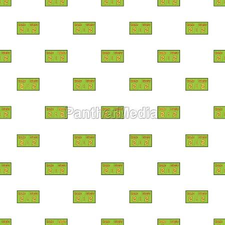 scoreboard pattern cartoon style