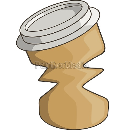 disposable coffee paper cup icon cartoon