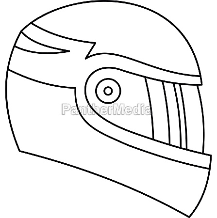 motorcycle helmet icon outline style
