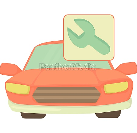 car repairs icon cartoon style