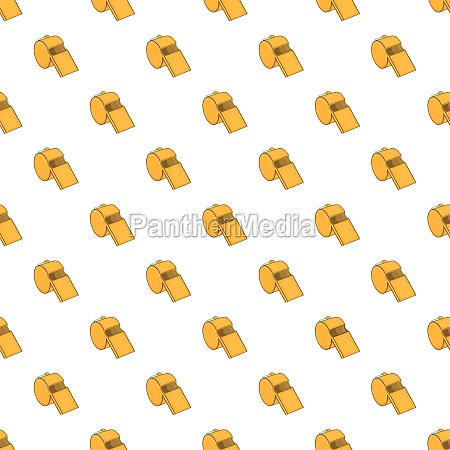 yellow sport whistle pattern cartoon style
