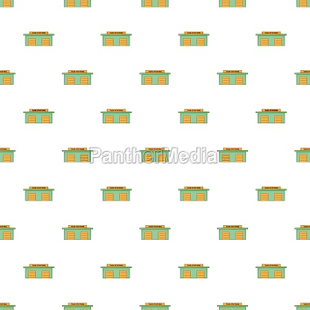 taxi station pattern cartoon style
