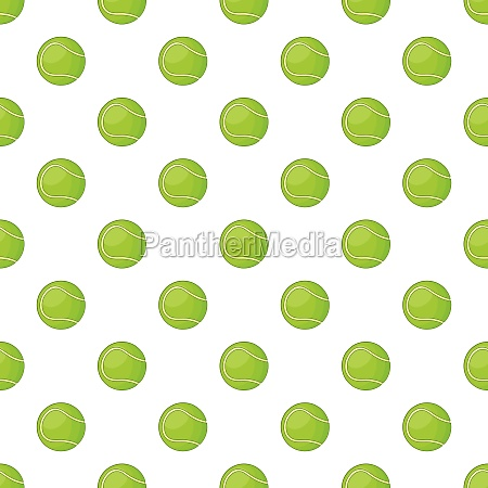 tennis ball pattern cartoon style