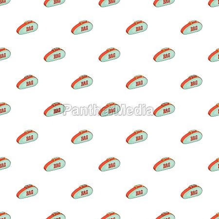 tennis bag pattern cartoon style