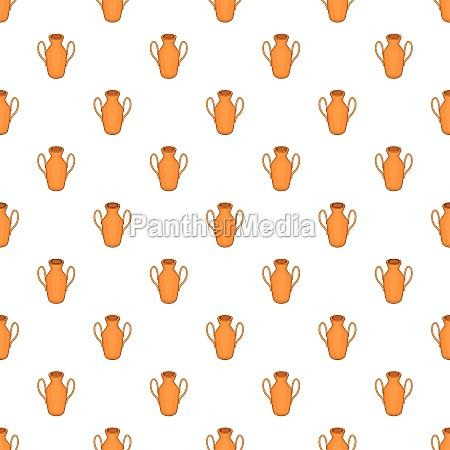ancient vase pattern cartoon style