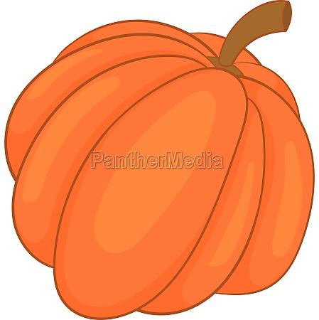 autumn pumpkin vegetable icon cartoon style