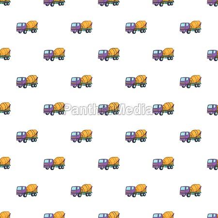 concrete mixer machine pattern cartoon style