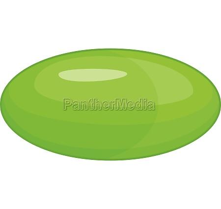 green pill icon cartoon style