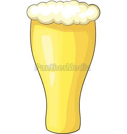 glass of beer icon cartoon style
