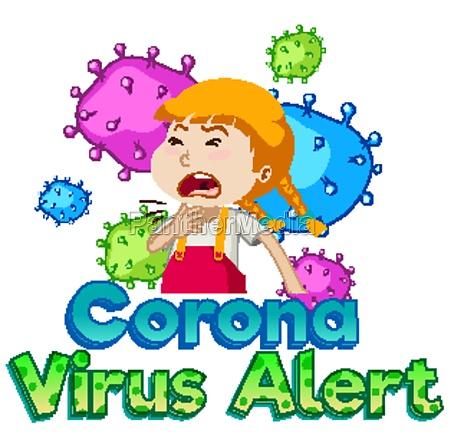 font design for coronavirus alert with