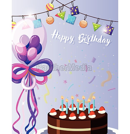 purple happy birthday card