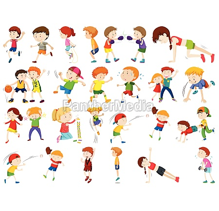 kids exercising and being active in