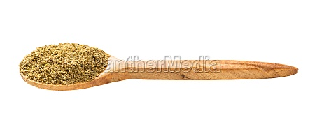 wooden spoon with georgian khmeli suneli