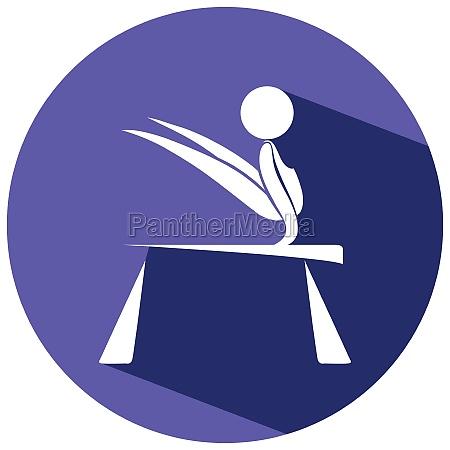 sport icon for gymnastics on round