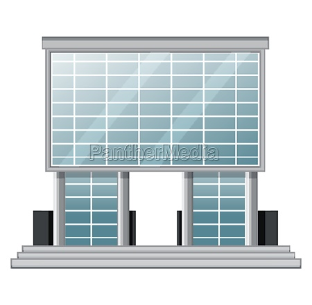 office building on white background