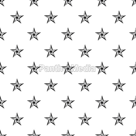 five pointed star pattern simple style