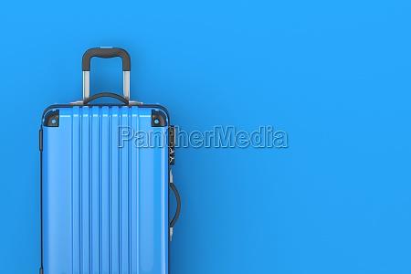 blue suitcase 3d render