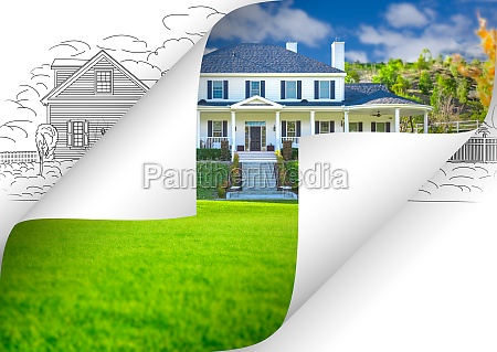 house photo page corners flipping with