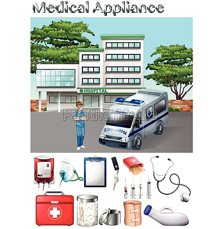 medical appliance and hospital scene