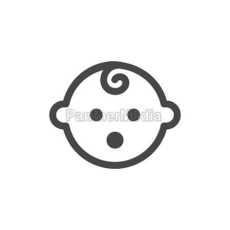 baby simple black vector icon