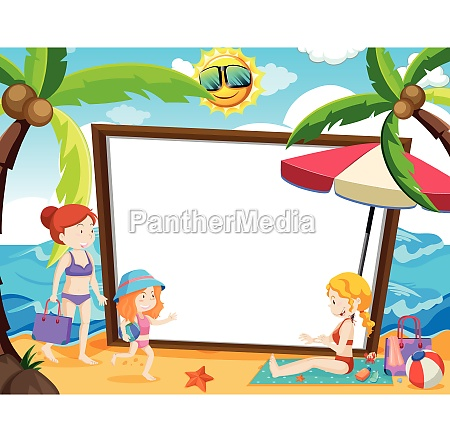 a whiteboard with summer theme