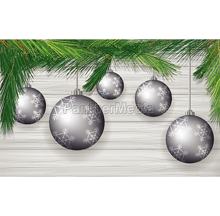 background design with gray christmas balls