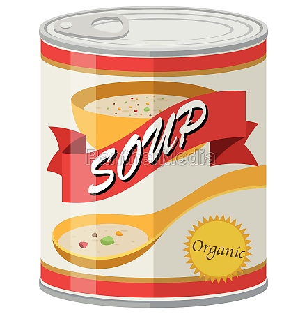 organic soup in aluminum can
