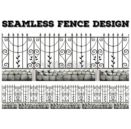 seamless fence design with metal fence
