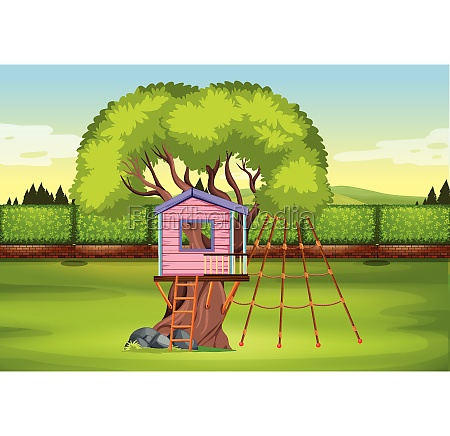 a tree house playground