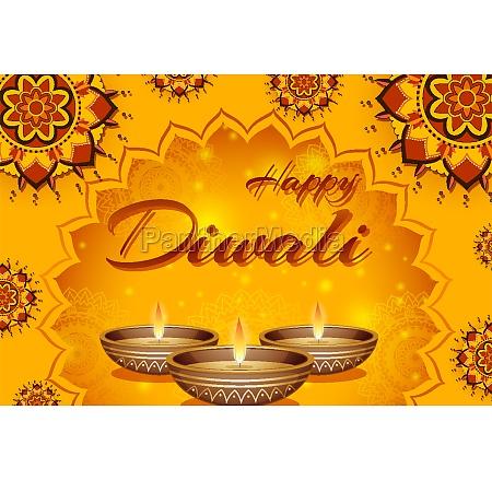 poster design for happy diwali festival