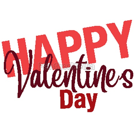 font design for happy valentines day