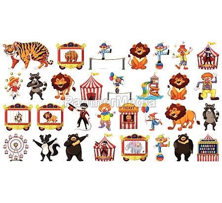 large circus themed set