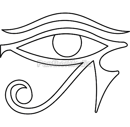 eye of horus icon outline style