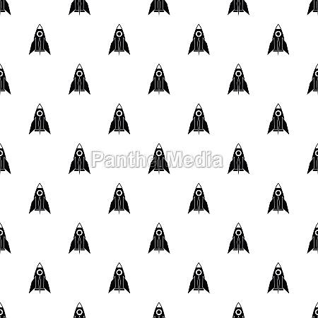 rocket pattern simple style