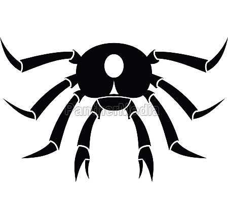 crab seafood icon simple style