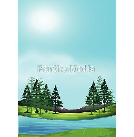 a beautiful nature landscape