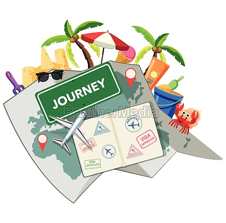 journey time with beach object