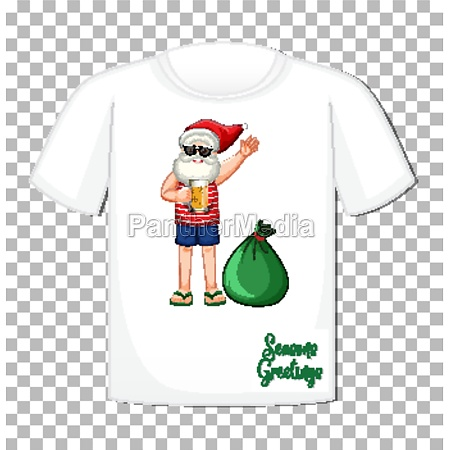 santa claus cartoon character on t