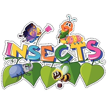 word insects with different insects on