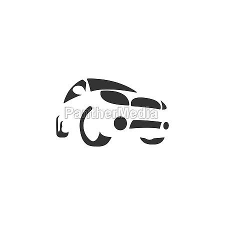 car icon logo design concept illustration