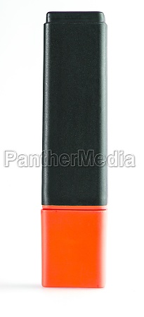 red closed marker close up isolated