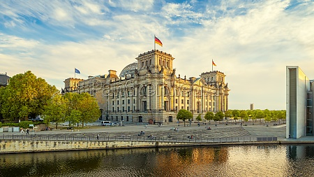 the reichstrag building of berlin while
