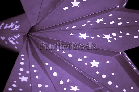 colorful purple xmas lantern star at